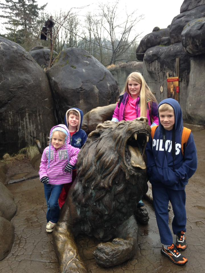 zoo day, oregon zoo, oregon zoo lions, Portland zoo, portland metro zoo, lion statue, kids at the zoo, lion zoo exhibit