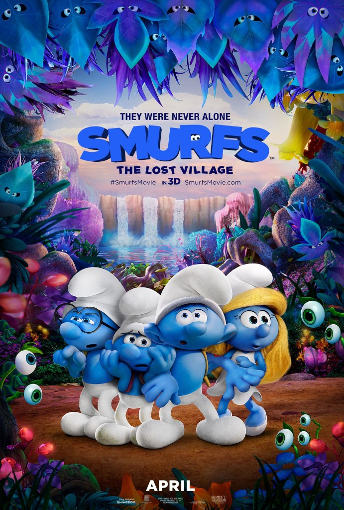Smurfs movie poster