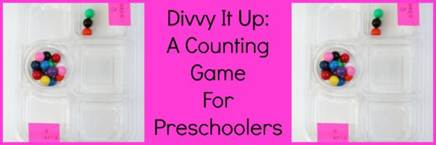 Divvy It Up: A Counting Game for Preschoolers