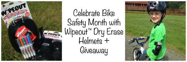 Celebrate Bike Safety Month with Wipeout™ Dry Erase Helmets + Giveaway
