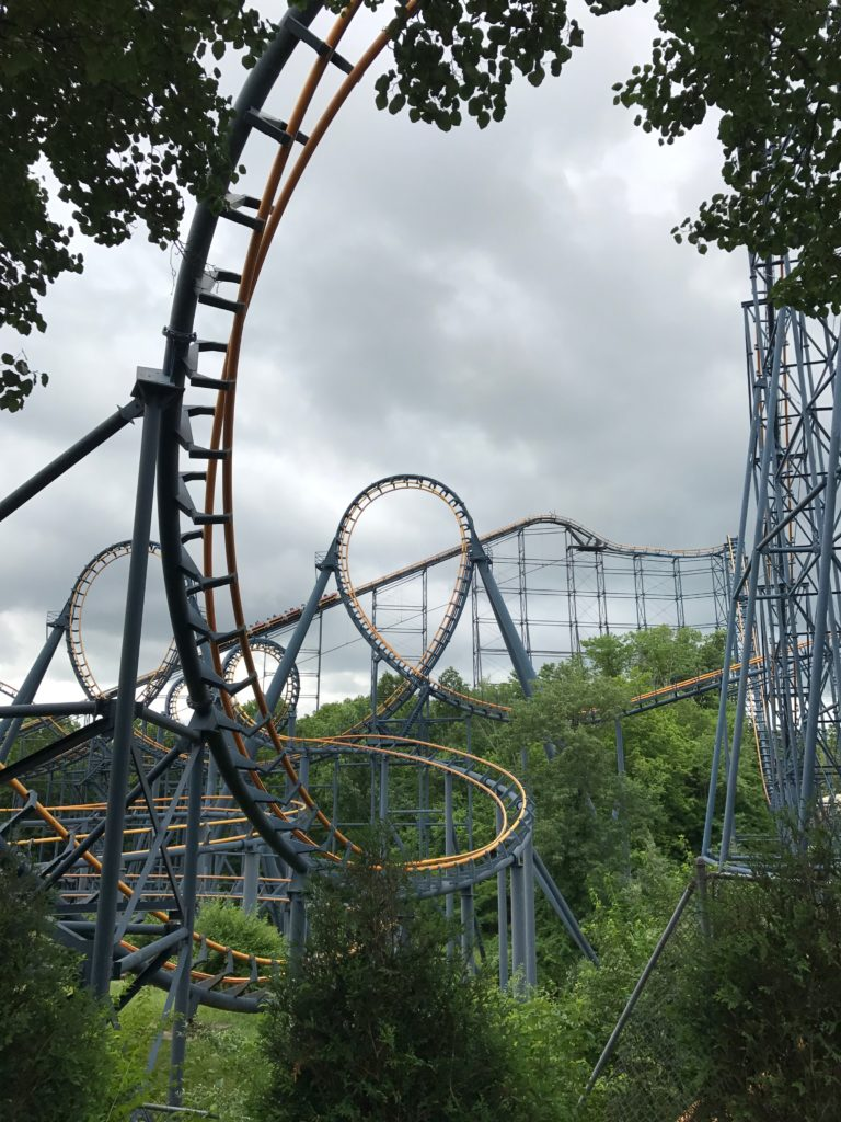 Kings Island Vortex, vortex roller coaster, kings island coaster