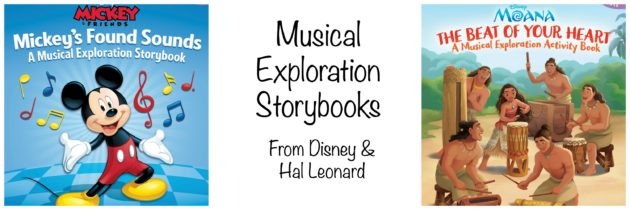 Disney Musical Exploration Storybooks: Learn Music with Moana, Mickey, and Rapunzel