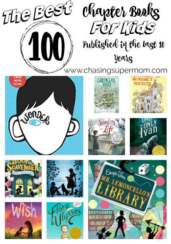 book list for kids, best chapter books, best new chapter books for kids