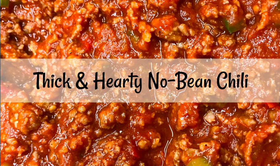 Thick and Hearty No Bean Chili