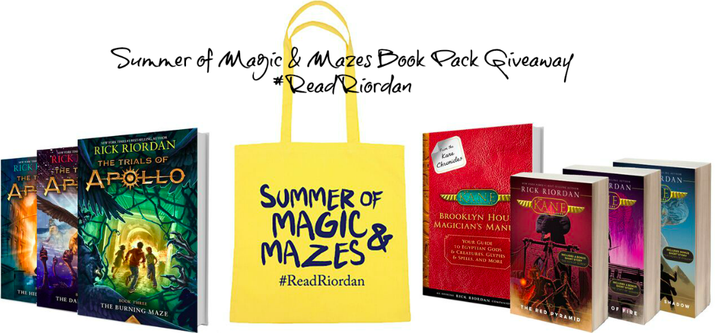 Summer of Magic and Mazes: #ReadRiordan Book Pack Giveaway!