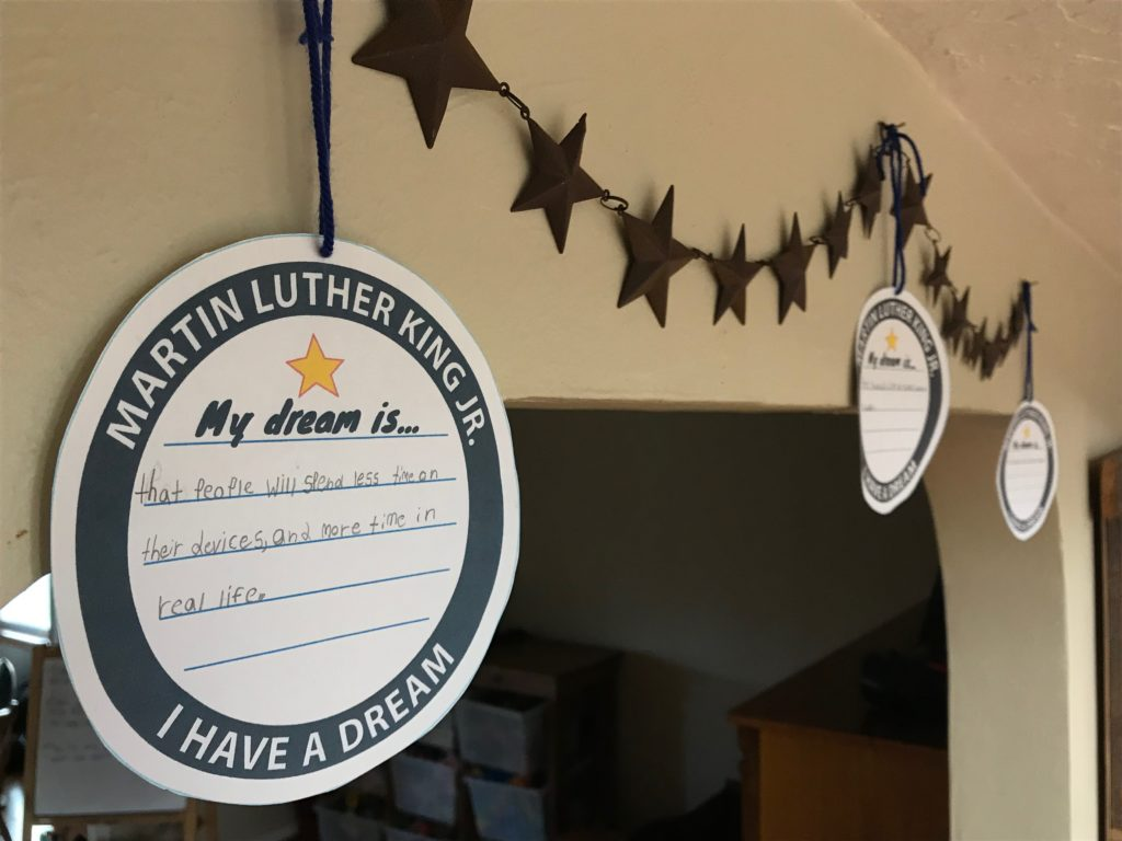 MLK Day activities, MLK printables