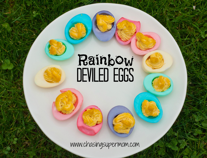 Rainbow Deviled Eggs