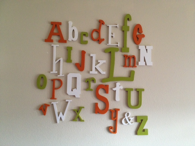 Unfinished Wooden Alphabet Letters Review and Giveaway
