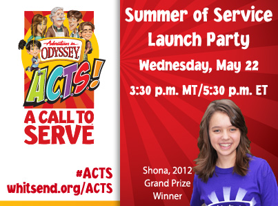 Adventures in Odyssey A.C.T.S. (A Call to Service) Summer Challenge!