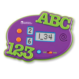 ABC & 123 Electronic Flash Card from Learning Resources Review and Giveaway