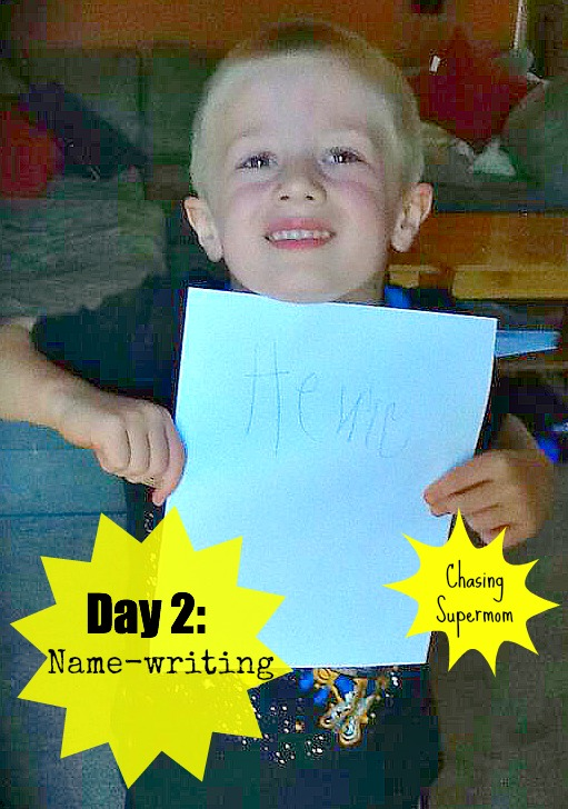 Ready for Kindergarten Day Two: Name-Writing and Name Recognition