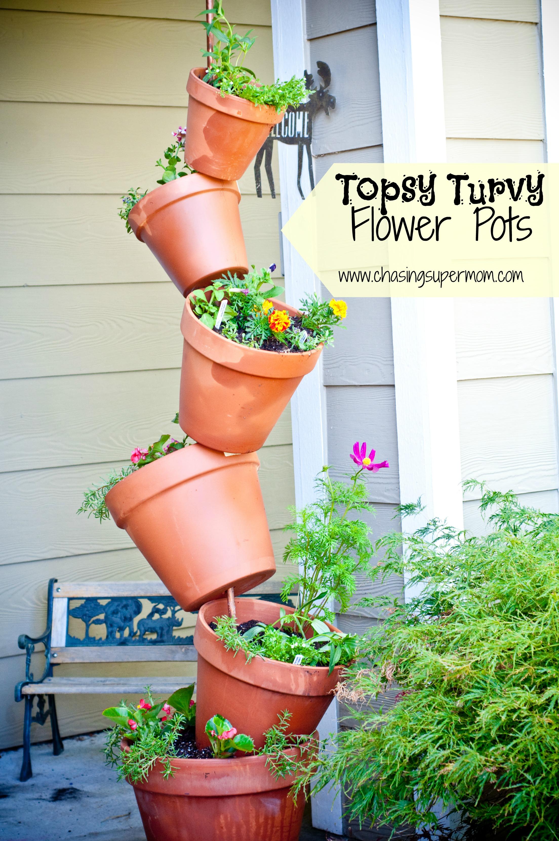 Topsy Turvy Flower Pots