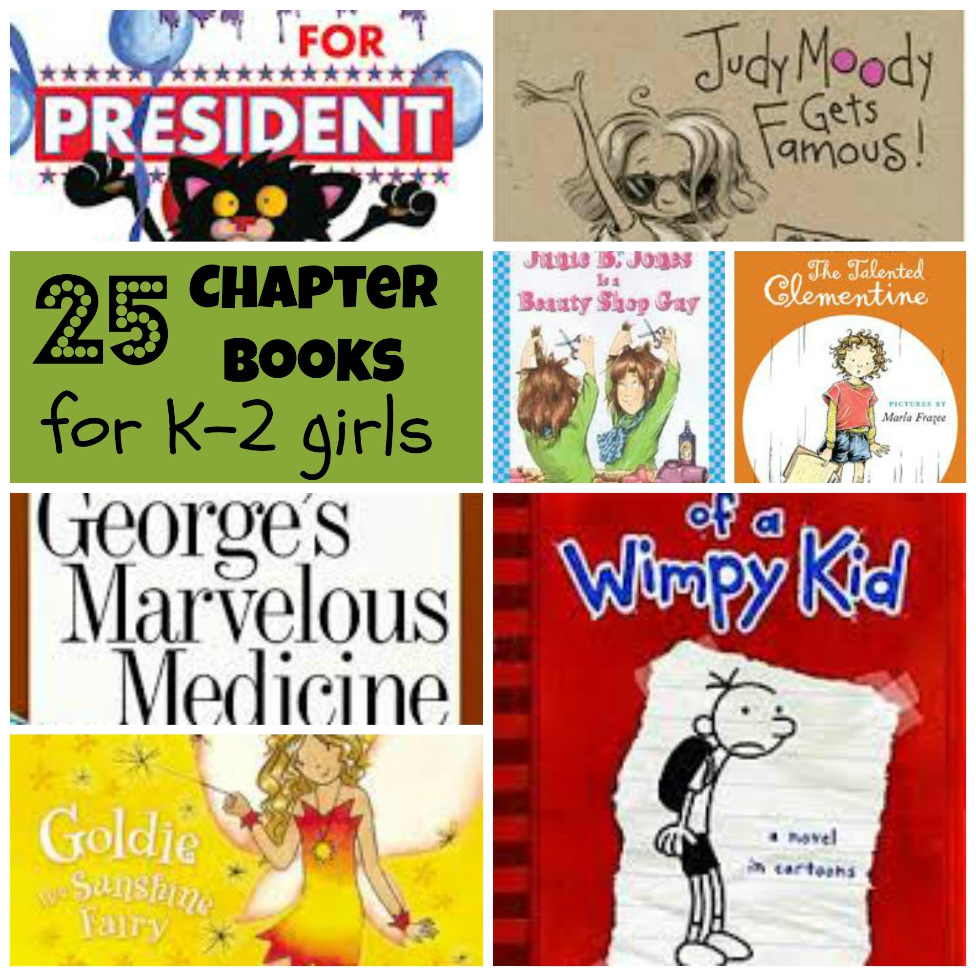 25 Chapter Books for K-2 Girls