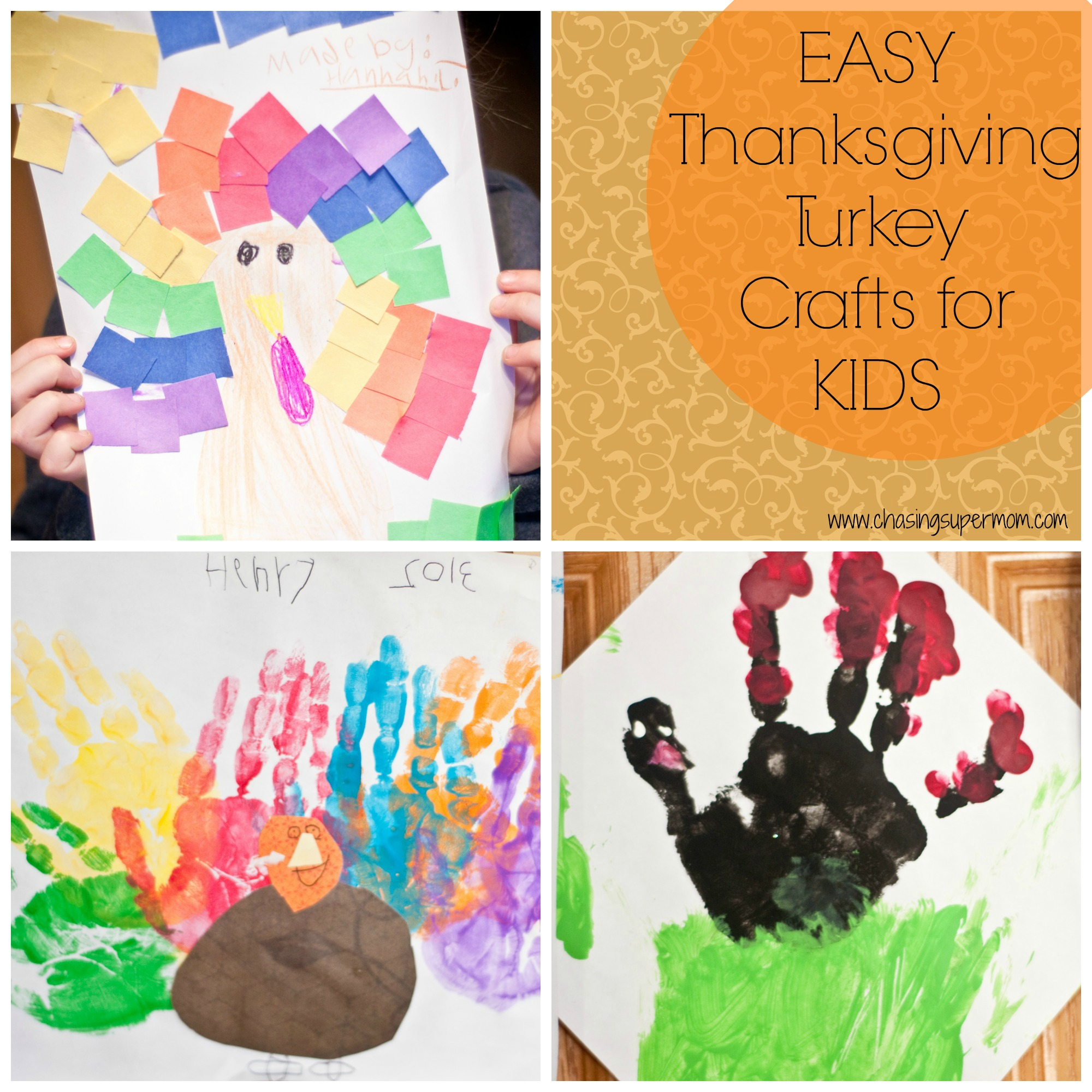 Simple Thanksgiving Turkey Crafts for Kids