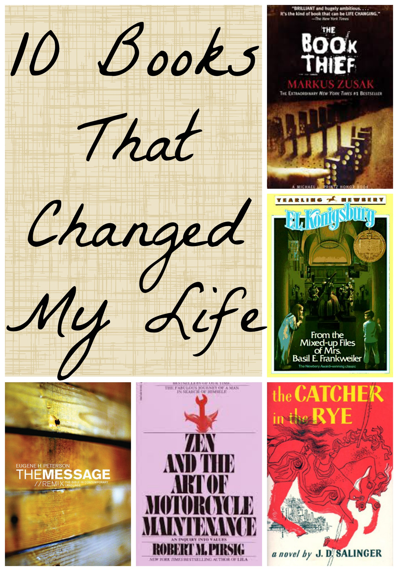 The 10 Books That Changed My Life : Chasing Supermom's Book List