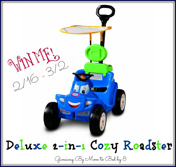 Deluxe 2-in-1 Cozy Roadster from Little Tikes Giveaway