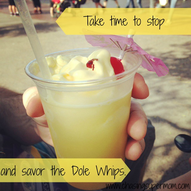 Stop and Savor the Dole Whips: A Time to Move and a Time to Relax – Lessons Learned at Disneyland Part One