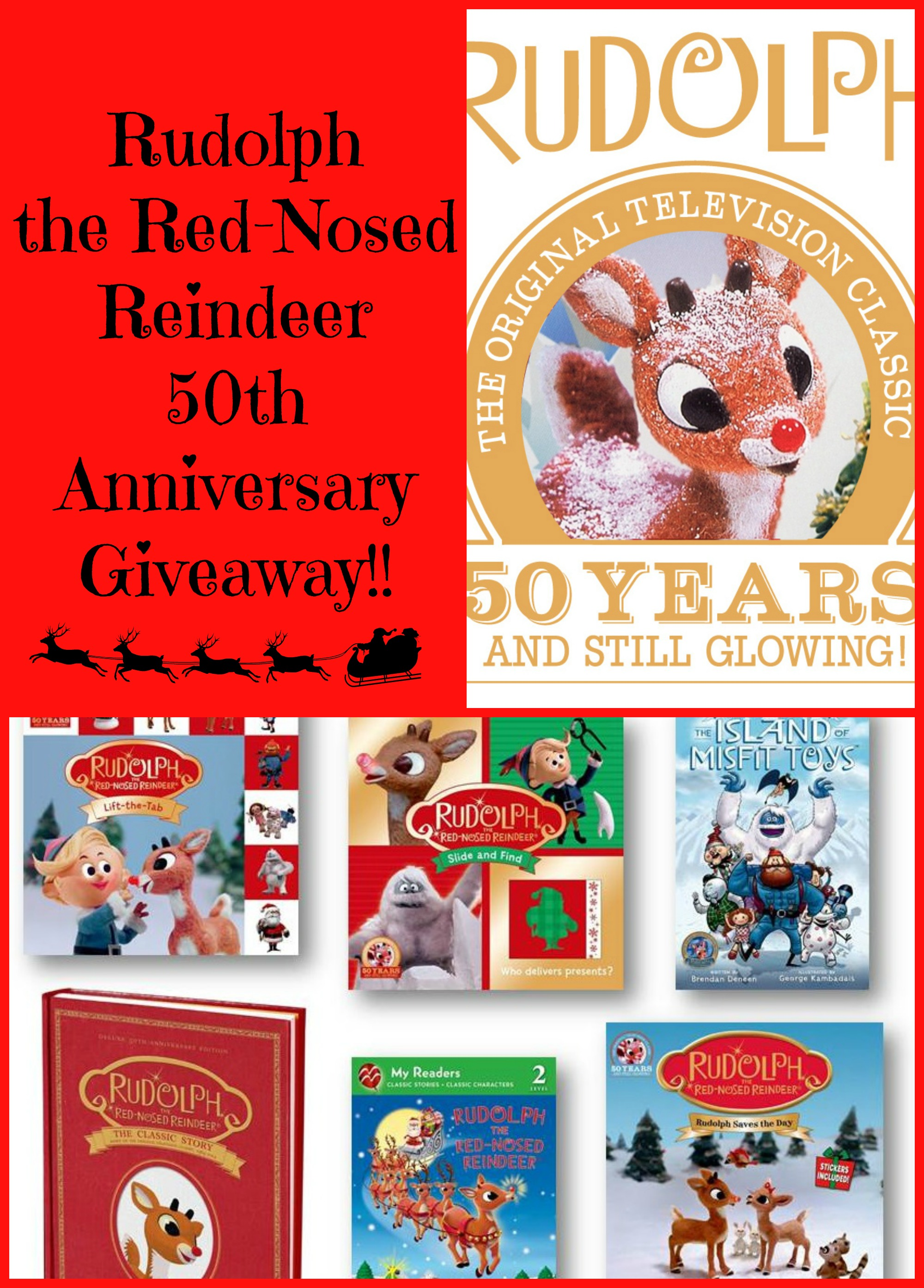Rudolph The Red-Nosed Reindeer 50th Anniversary – Books, Special, and GIVEAWAY