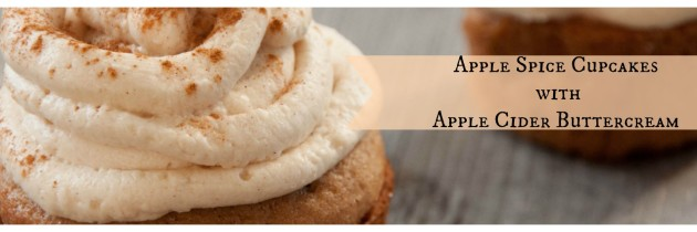 Apple Spice Cupcakes with Apple Cider Buttercream