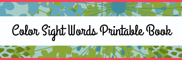 Color Scavenger Hunt and Printable Color Words Book
