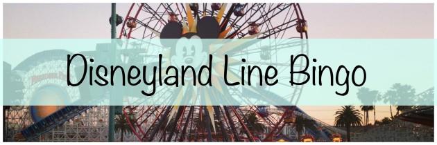 Disneyland Line Bingo