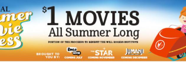 Regal Summer Movie Express – $1 Movies All Summer Long