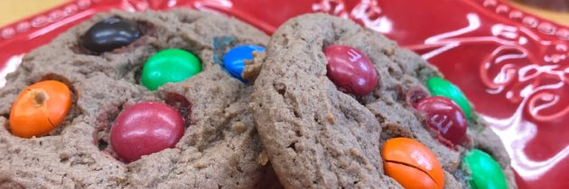 Chocolate Peanut Butter M&M Pudding Cookies
