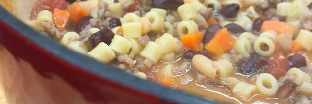 Quick and Easy Pasta E Fagioli Soup